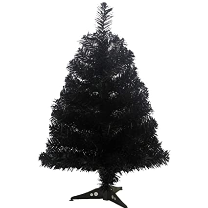 jackcsale 2 foot artificial christmas tree xmas pine tree with pvc leg stand base holiday decoration - Black Artificial Christmas Tree