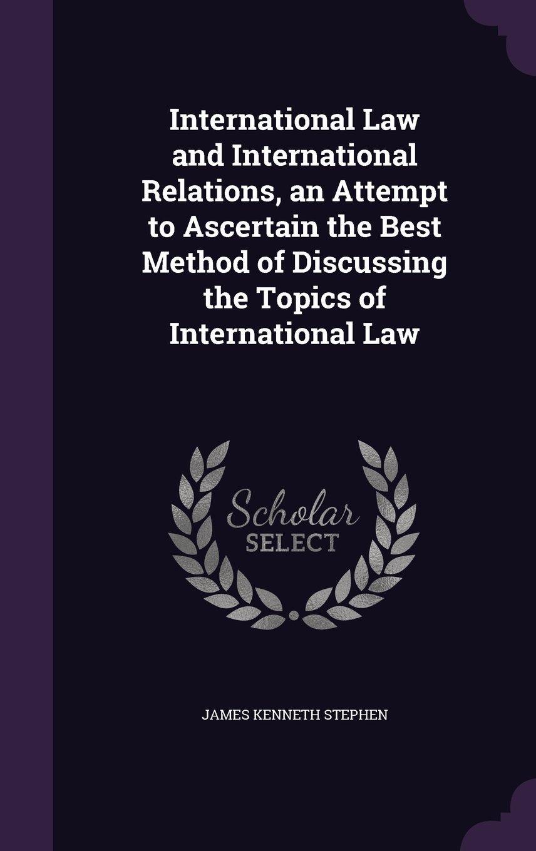 good international relation topics