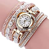 CLEARANCE!! Women's Watches Sonnena Ladies Vintage Rhinestone Bracelet Watch Analog Wrist Watch Jewelry Set , HOT SALE 2018 Wrist Watch for Party Club Casual Watches Valentine's Day Gift Stainless Steel Watch (Bracelet, Gold)