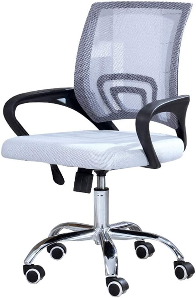 Amazon Com Ergonomic Computer Office Chairs Managerial Executive Home Desk Task Adjustable Mesh Mid Back Upholstered Comfortable With Arms Max Load 250kg Kitchen Dining