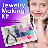 Jewelry Making Kit- Everything included it this beginners jewelry kit. Girls and teens will love exploring their creativity! Directions included with this fun girls bead kit.