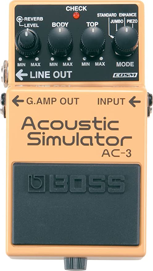 BOSS AC-3 Acoustic Simulator Effects Pedal: Amazon.es ...