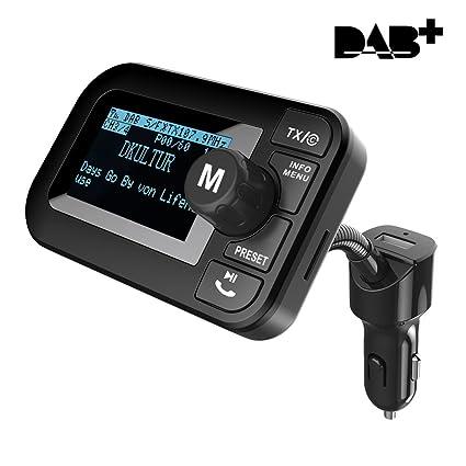 Dab Radio Empfang Karte.Auto Dab Radio Adapter Savori 2 3 Digital Radio Dab Mit Bluetooth Fm Transmitter Tf Karten Aux Ausgang Freisprecheinrichtung 5v 2 1a Usb