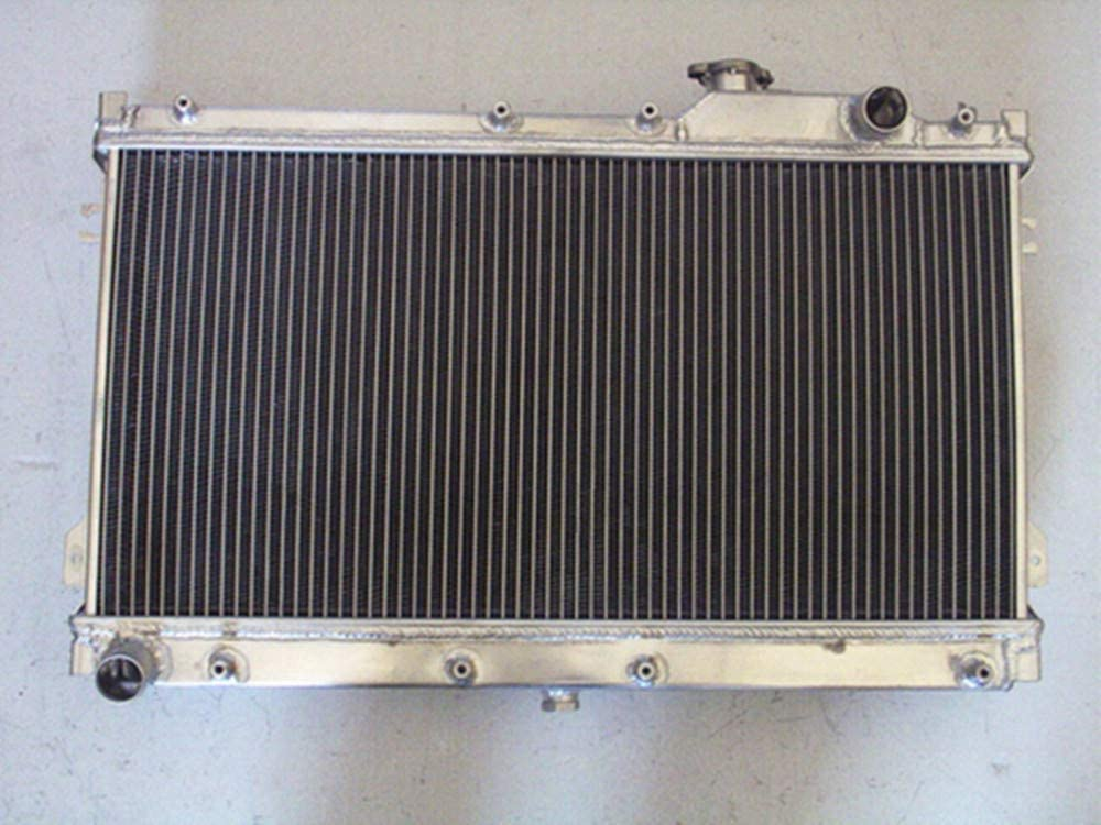 2 row Aluminum radiator for MIATA MX5 1.6L 1.8L 1990-1997 91 92 93 Manual