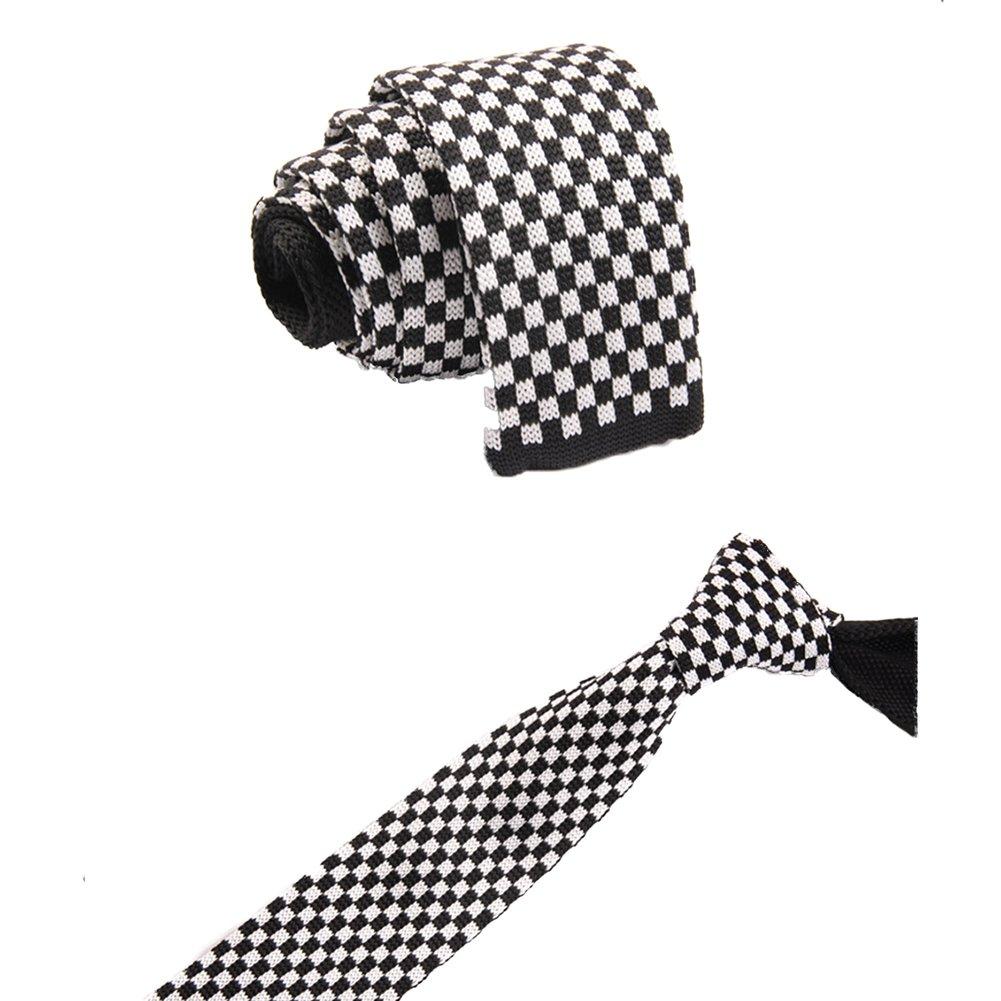 Hosaire Moda Tejido de Punto Mens de Llano Delgado Casual Cuello Flaco Fiesta Boda Lazo Corbata size ZZLD-015
