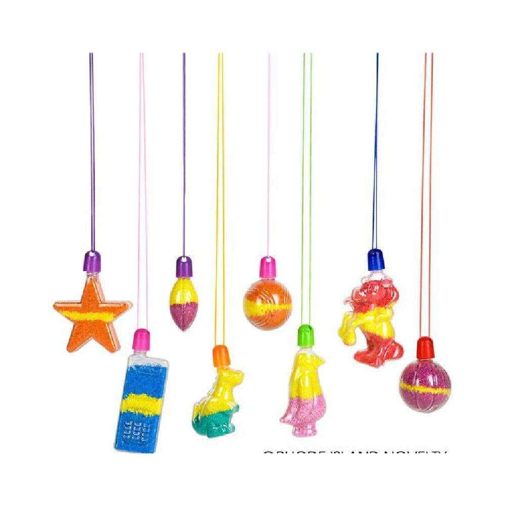 Sand Art Necklace Assortment (With Sticky Notes) by Bargain World