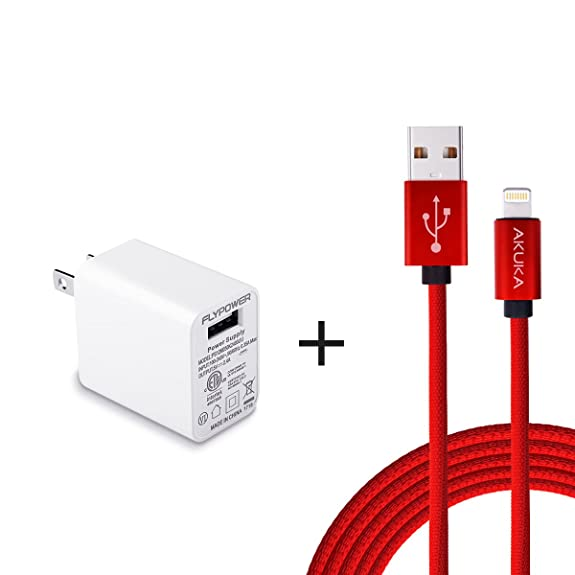 Giveaway iphone charger with wall plug 6 ft
