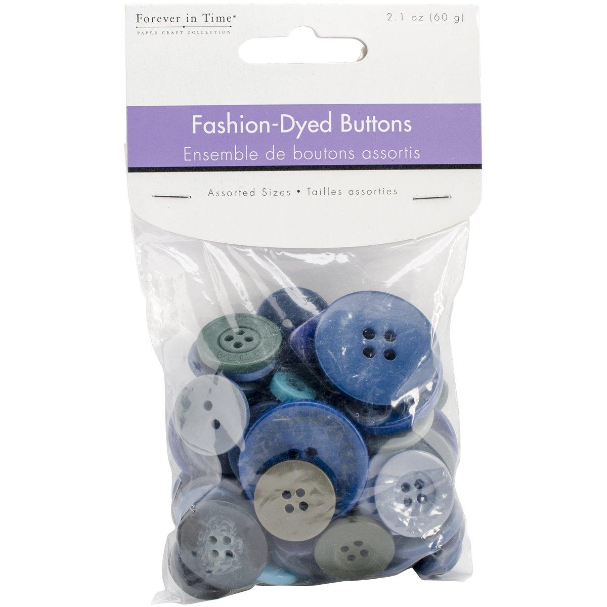 Button Embellishment Fashion Dyed Buttons 60g-Blues (並行輸入品)   B00OY0PI7M