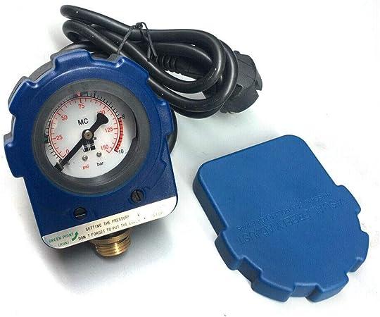 Strahlpumpe Wasserpumpenschalter Tiefbrunnenpumpe selbstansaugende Pumpe 220V 10 Bar Druckreglereinheit Elektronischer Schalter f/ür Tauchpumpe