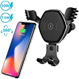 Samsung S10 S9 S8 Note 9 Windshield Car Mount Phone Holder Compatible with iPhone Xs Max XR 8 10W 7.5W Fast Charging /& 5W Car Mount SIKER Wireless Car Charger Mount