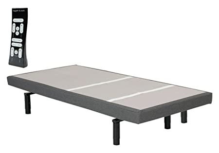 Adjustables by Leggett Platt Split Adjustable Bed Base, Wireless, Wall-Hugger, Massage, Night Light, Zero Gravity, Anti-Snore, S-Cape, King
