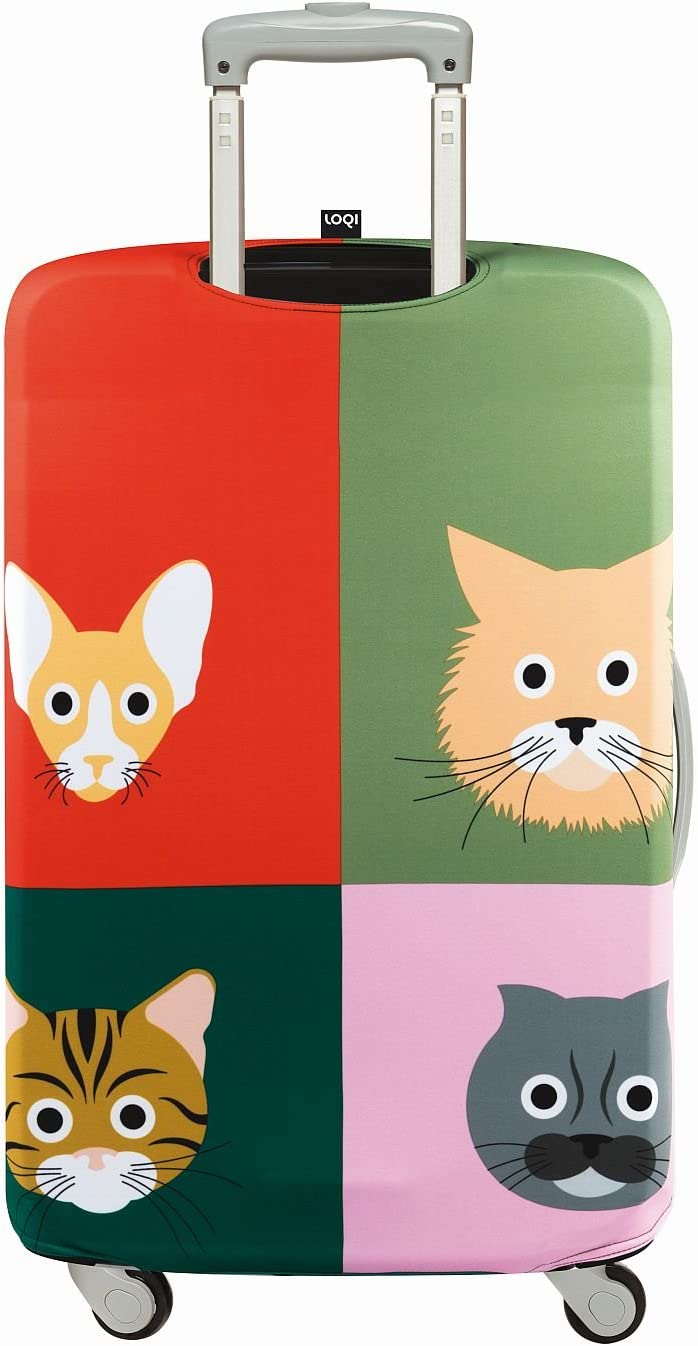 Size Small Packing Organiser Multicolour 30 cm LOQI Artist Stephen Cheetham Cats Luggage Cover