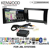 Volunteer Audio Kenwood DNX874S Double Din Radio Install Kit with GPS Navigation Apple CarPlay Android Auto Fits 2007-2013 Toyota Tundra, 2008-2013 Sequoia with Amplified Systems (Metallic Gray)