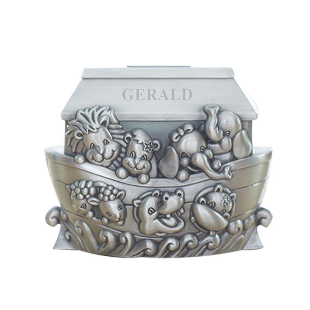 GiftsForYouNow Noah's Ark Engraved Pewter Bank