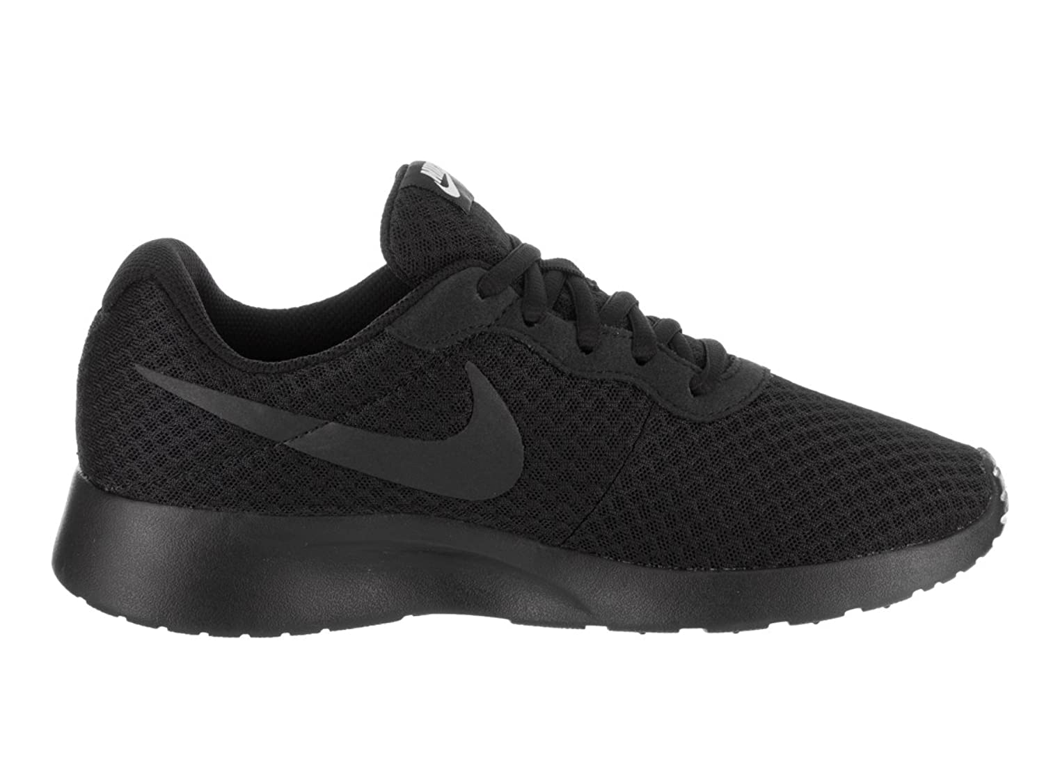 NIKE Women's Tanjun Black/Black/White Running Shoe