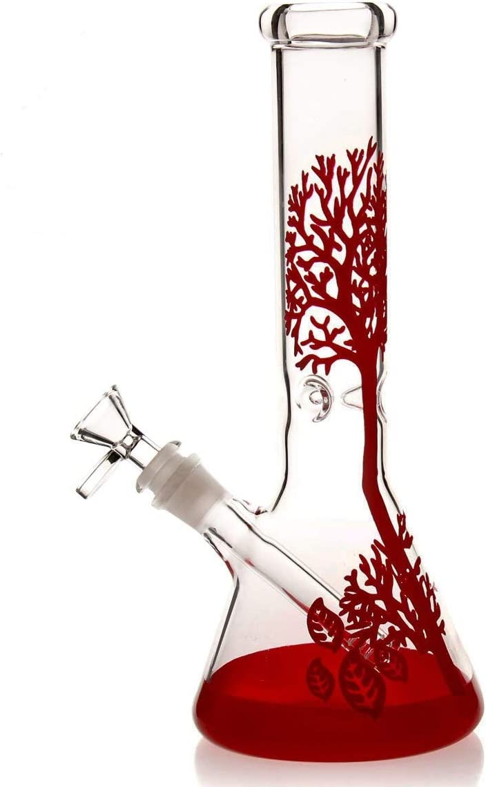Toolazy Hademade Glass Vase 10 inch Red