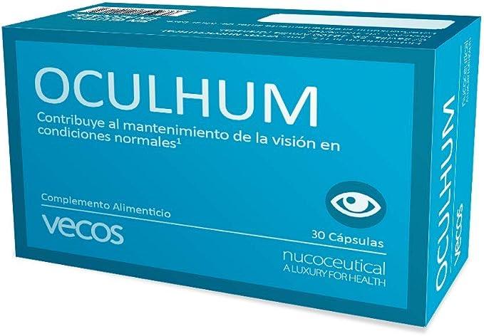 Oculhum Vecos para el cuidado, lubricación e hidratación ocular – Sustituto de colirio y lagrima artificial - Maquibrith®, zinc, vitamina A y Omega 3 ...