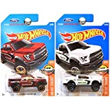 hot wheels ford f 150 - Hot Wheels 2016 Hot Trucks Performance 2017 Ford F-150 Raptor in Red and White SET OF 2