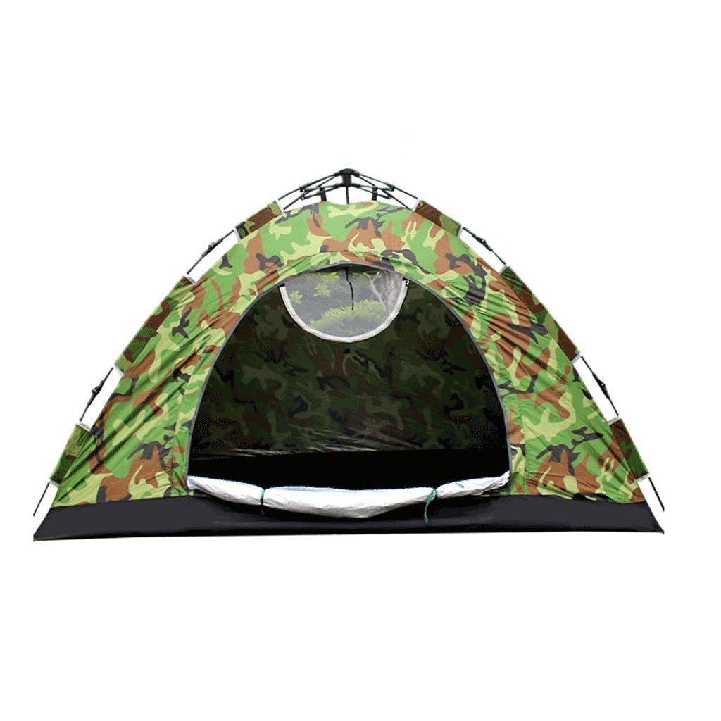 JIE KE Leichtes Unisex-Outdoor-Kuppelzelt, Doppel-Tarnung-Automatikzelt Outdoor-Multi-Person-Camping 1-2 Personen