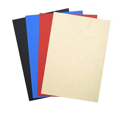 farbig sortiert DIN A4 pavo Einbanddeckel Lederstruktur