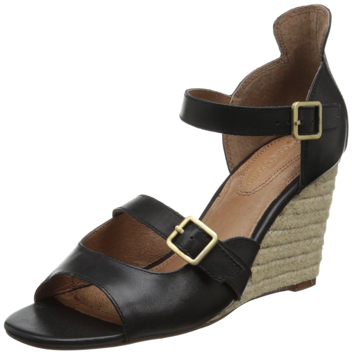 Corso Como Women's Hello Wedge Sandal B00EWG1AN4 7.5 B(M) US|Black Vintage Calf