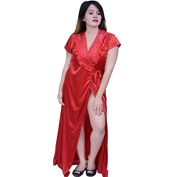 816ee8fb9d Nighty Dress 6 Piece set Color Red For Women Introductory Offer Free One  Dupatta by Dream Fashion  Amazon.in  Clothing   Accessories