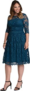 product image for Kiyonna Women's Plus Size Luna Lace Cocktail Dress