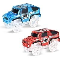 CyCspriqh LED Flashing Light Transparent Electric Race Car Magic Track Rail Fun Kids Toy - Random Color