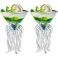 Octopus Cocktail Glass Creative Martini Drinkware Bar Goblet Tools Snifters (120ML Transparent Glass 2)