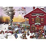 Buffalo Games Whistle Stop Christmas by Charles Wysocki Jigsaw Puzzle, 500 Piece