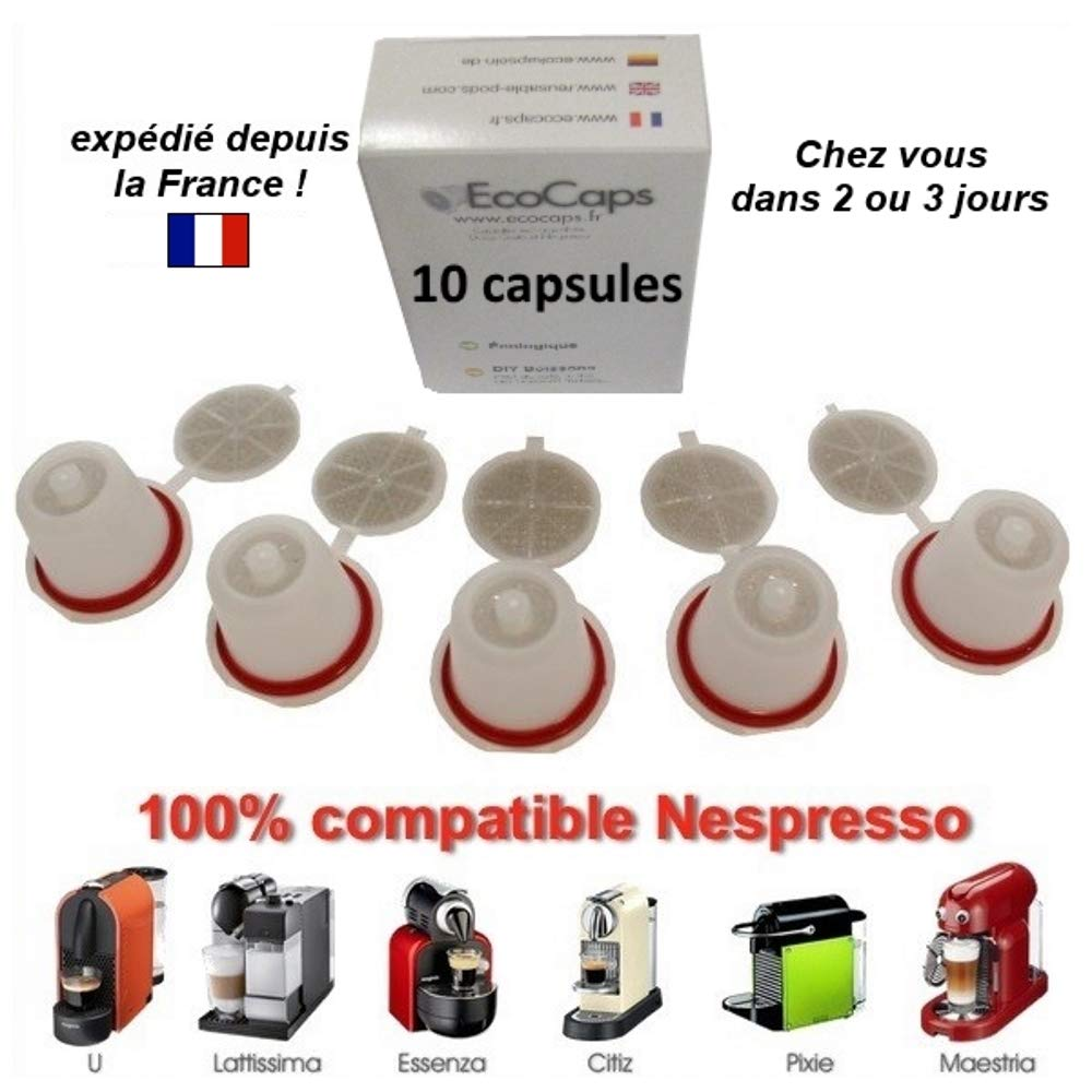 Nespresso - Capsulas rellenables recargables reutilizables cafe emohome