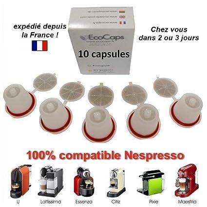 Nespresso - Capsulas rellenables recargables reutilizables cafe emohome: Amazon.es: Hogar