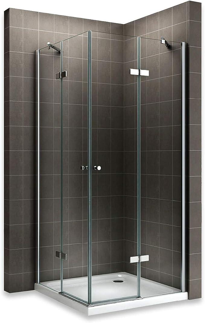 Mai /& Mai Paroi de douche cabine de douche 70x100 avec porte de douche coulissante c/ôt/é droite verre tremp/é transparent receveur compris RAV18