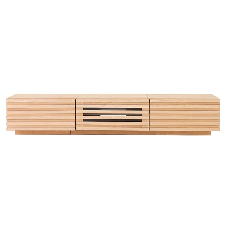 モダンデコ モダンデコ TVボード 150cm フラップ扉 (ナチュラル) B07S5YB6LR ナチュラル