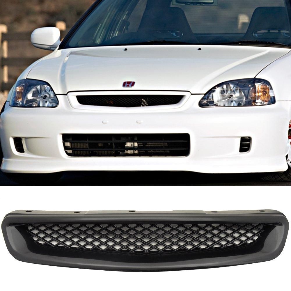 JDM 96 97 98 HONDA CIVIC ABS T-R FRONT HOOD GRILL GRILLE IKON MOTORSPORTS