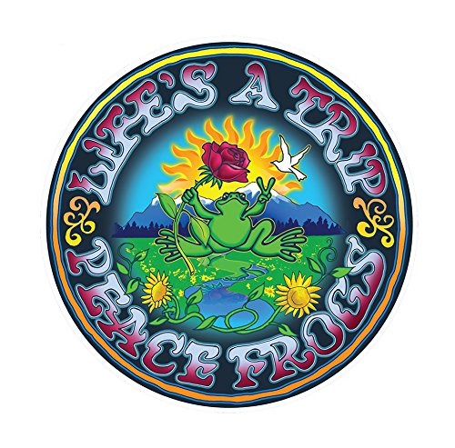 Enjoy It Peace Frogs Life's a Trip Peace Frogs Car Sticker,