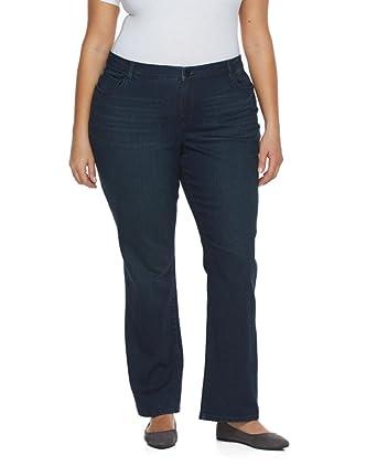 7adbeb0f991 Gloria Vanderbilt Women's Plus Size Jordyn Curvy Fit Boot Cut Jeans - Blue -