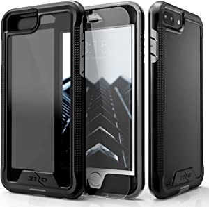 ZIZO ION Series for iPhone 8 Plus Case Military Grade Drop Tested with Tempered Glass Screen Protector iPhone 7 Plus 6s Plus Black Smoke