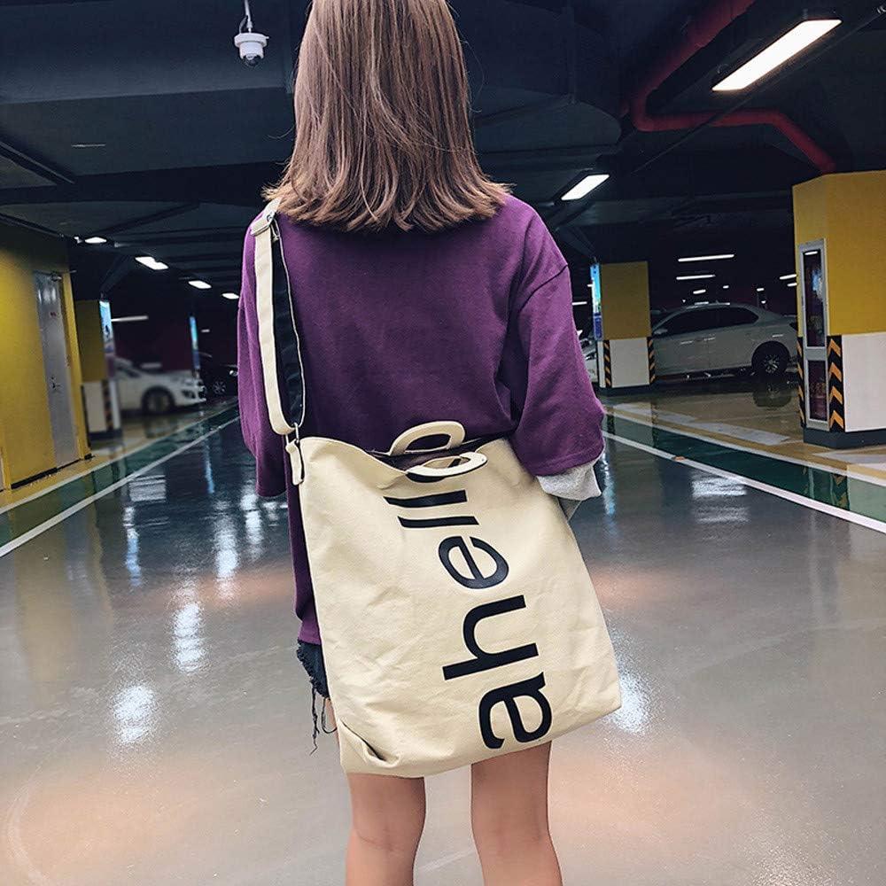 ZOMUSAR Fashion Women Letter Printed Canvas Messenger Bag Shoulder Bag Handbag Travel Square Bag