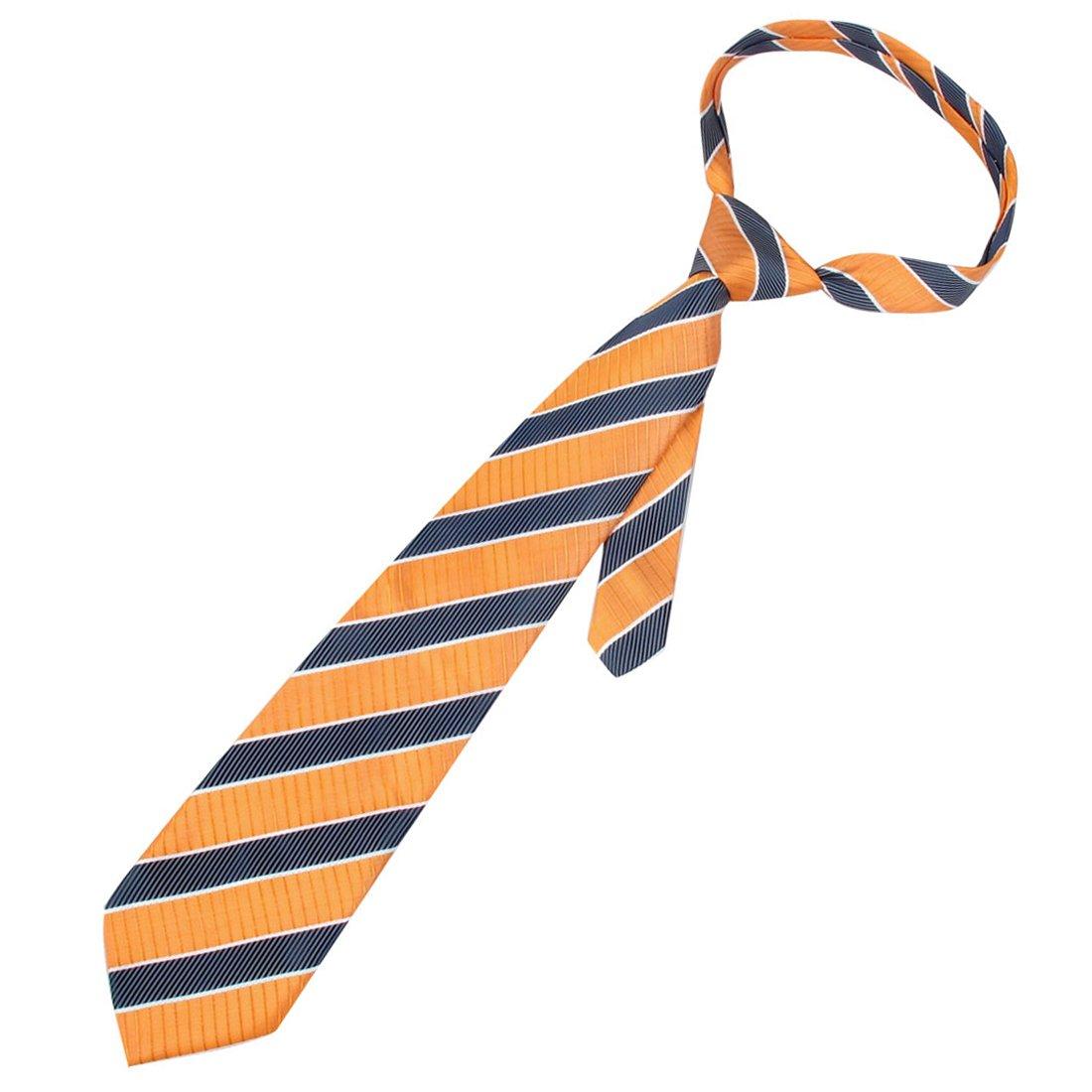 10 cm de ancho naranja azul blanco rayas diagonales corbata para ...