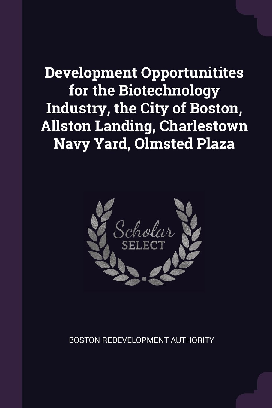 Download Development Opportunitites for the Biotechnology Industry, the City of Boston, Allston Landing, Charlestown Navy Yard, Olmsted Plaza pdf