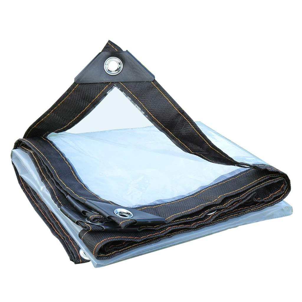 5mX5m BÂche Robuste imperméable Transparente - Feuille de bÂche Transparente - Couverture de première qualité en 120 g mètre voitureré pour la Prougeection Contre la Pluie du Toit de Bateau de Voiture