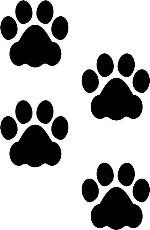 Amazon Com Litemark Durable Paw Print Decals 3 Inch Dog Pawprints Floors Walls Gloss Black 24 Pack Home Kitchen