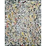 The Museum Outlet - Jackson Pollock - White Light - A3 Poster Print