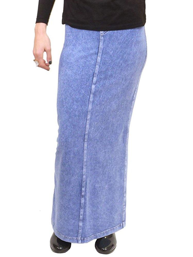Hardtail Long Denim Skirt (M, Light)
