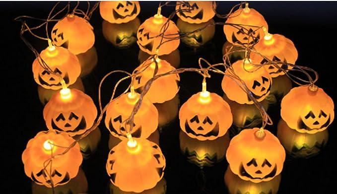 Caolator halloween luci catena teschio di zucca emissione di luce