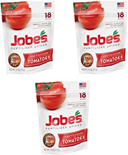 product image for Jobe's Tomato Fertilizer Spikes, 6-18-6 Time Release Fertilizer for All Tomato Plants, 18 Spikes per Resealable Waterproof Pouch - (3 Pouch)