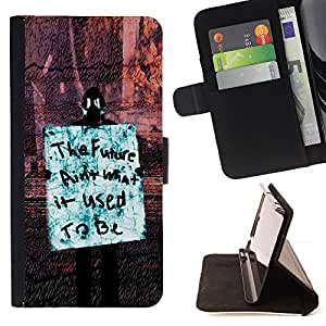 - RIGHTS SIGN FUTURE REVOLUTION OCCUPY FREEDOM - - Prima caja de la PU billetera de cuero con ranuras para tarjetas, efectivo desmontable correa para l Funny HouseFOR Sony Xperia Z1 L39
