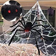 PartyWoo Spider Webs Halloween Decorations