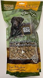 OC Raw Dog Freeze-Dried Chicken Meaty Rox 20 Ounces
